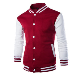 Wine Jackets NZ - New Men Boy Baseball Jacket Men 2017 Fashion Design Wine Red Mens Slim Fit College Varsity Jacket Men Brand Stylish Veste Homme