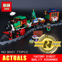 Train blocks online shopping - Lepin Creative Series The Christmas Winter Holiday Train Set Building Blocks Bricks Children Christmas Gifts
