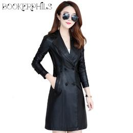 069e8f1f3cbdb 2018 Autumn Winter Long Soft Faux Leather Jacket Women Plus Size 5XL Black  Red Purple Casual Slim Female Outerwear Leather Coat
