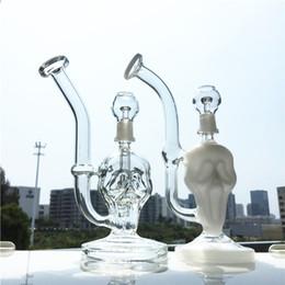 Skull Skeleton glaSSeS online shopping - Small Glass Water Bongs Inch Oil Dab Rigs Human Skeleton Water Pipes Skull Rig Bong mm Glass Bowl WP202