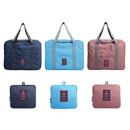 $enCountryForm.capitalKeyWord NZ - Unisex Luggage Travel Handbag Large Capacity Folding Bag Travel Clothes Storage Bags Waterproof Bag Portable Luggage Case