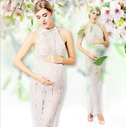 $enCountryForm.capitalKeyWord NZ - Maternity Gown for Photography Clothes Props Lace Pregnant Party Dresses for Photo Shoots Sleeveless Sexy Maxi Maternity Pregnancy Dress
