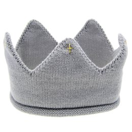 Wholesale Hot and nice design Woolen Yarn Cute Baby Boys Girls Crown Knit Headband Hathair accessories hat tiaras infantil