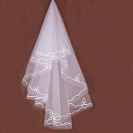 $enCountryForm.capitalKeyWord Australia - Elegant Bride's Veil Ribbon Ivory Hot Bridal Accessories 1.2M One Layer Wedding Veils Wedding Formal Occasion in stock