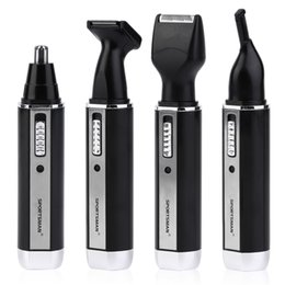 trim hair men NZ - Rechargeable nose hair trimmer beard trimmer for men ear face nose hair removal waterproof eyebrow for Wireless use