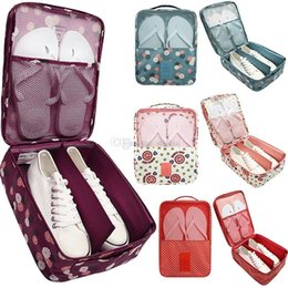 Discount travel pouches for clothes - New Travel Waterproof Storage Bags for Shoes Clothes Cosmetic Nylon Storage Pouch Organizer Bag Zipper Pocket Package WX