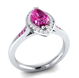 Ruby gemstone foR Rings online shopping - Exquisite Ruby Gemstone Cz Anniversary Brand Ring Sterling Silver Filled Jewelry Finger Ring For Women Party Gift Size