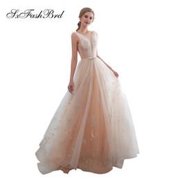ba08440135 Elegant Dress O Neck Open Back See Through Top A Line Lace Long Wedding  Party Bride Dresses Women Wedding Dress Gown