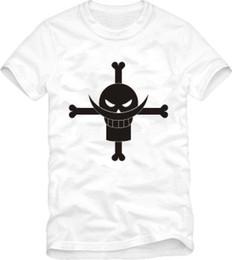 China Men's women's one piece op white beard pirate logo printed short sleeve t-shirt anime 100% cotton loose t shirt funny t shirts suppliers