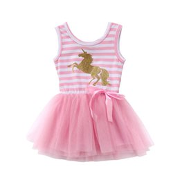 622cbf1e810 0-5Y Kid Baby Girls Dress 2018 New Cartoon Unicorn Baby Girls Princess Dress  Party Birthday Tutu Tulle Dresses Summer Clothes