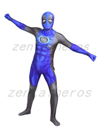Wholesale deadpool costume zentai online – ideas 3D print deadpool lantern corps Superhero costume Spandex Lycra Zentai Cosplay Halloween Party Costume