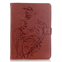 China Wallet Leather Australia - Butterfly Pattern PU Leather Cover For Apple ipad 2 3 4 A1458 A1459 A1460 Tablet Case Wallet Flip Stand Case+Stylus Pen+Film.