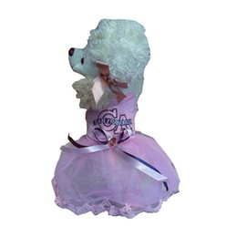 MediuM rhinestone dog harness online shopping - Pink Dog Dress Blue Party Tutu Harness Formal Medium Large XL XXL Rhinestones Stone Decor Skirt Lace Fabric Dog Clothes Puppy