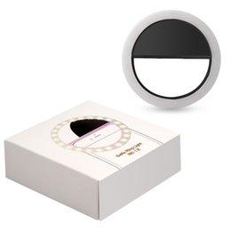 Venta al por mayor de Accalia RK12 Universal LED Light Selfie phone Fotografía Flash light led Lamp Ring para iPhone iPhone otros