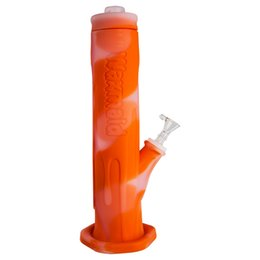 Cooling Bong NZ - Glass Bong FDA Silicone Dab Rig High-end 12 inches Cool Ice Bongs With 14mm male Joint Bowl Factory Outlet DHL Free Shipping