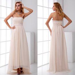 ba065066b008 Light pink empire waist bridesmaid dresses online shopping - 2018 Ivory Pin  New Chiffon Long Bridesmaid