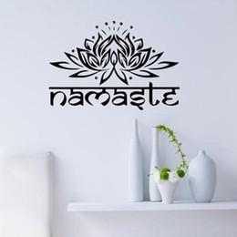 $enCountryForm.capitalKeyWord NZ - 1 pc Lotus Flower Wall Decal Yoga Namaste Wall Stickers Home Decor Living Room Bedroom Yoga Studio Wall Art Vinyl Wallpaper
