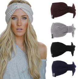 $enCountryForm.capitalKeyWord NZ - Multifunction Winter Women's Hat Ear Warmer Headwrap Crochet Turban Knitted Wool Head Wrap Beanies Cap Hip-Hop Hats Bonnet
