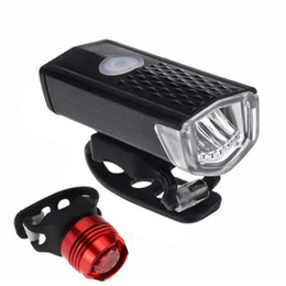 tail light modes lamp 2019 - Wholesale Super Bright USB Led Bike Waterproof Front Lamp Bicycle Light 3 Light Modes Strap Rechargeable Headlight &Tail