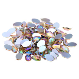 $enCountryForm.capitalKeyWord UK - 6x8mm AB Colors 5000pcs Craft Art Decorations Flatback Oval Faceted Shiny Stones DIY Nails Art Phone Cases Garments Supplies