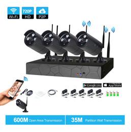 4CH Wireless NVR 720P IR outdoor P2P WIFI 4 PCS 1.0MP CCTV Security Camera System Surveillance Kit on Sale