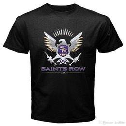 Verão 2018 novos SANTOS FILEIRA 4 IV Famosos Video Games T-Shirt Dos Homens Negros Tamanho S para 3XL Novidade Tee Frete Grátis venda por atacado