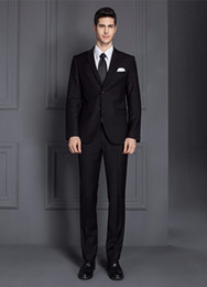 Wool Dress Jackets Canada - 2018 Mens Suits Wedding Jacket Black Pants Summer wool tuxedos sale Suit Beach Dress Men Suit Tuxedo WeddingCostume