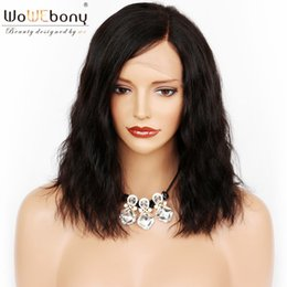 $enCountryForm.capitalKeyWord NZ - WoWEbony 100% Human Indian Remy Hair Loose Wave Short Bob Glueless Full Lace Wigs & Lace Front Wigs With Baby Hair Left Part