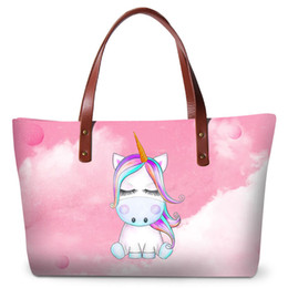 3e2fb275c4 Cute Unicorn Printing Handbags For Women Travel Shopping Totes Bags For  Teenage Girls Large Capacity Ladies Fashion Summer Beach Bag Handbag