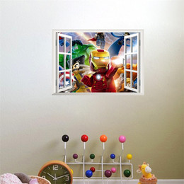 Art for kids rooms online shopping - 3D Water Proof Art Wall Sticker Removable False Window Pattern Childrens Room Wallpaper Background Home Decor Cartoon Stickers ly jj