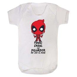 Deadpool Cute Marvel Baby Grow Super Hero Body Vest Comic Boys Girls Toddler