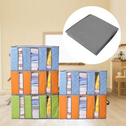 Wholesale clothing packs online shopping - 65L Foldable Storage Case Closet Clothes Pillow Quilt Packing Bedding Container Box Organizers Large Capacity NNA797