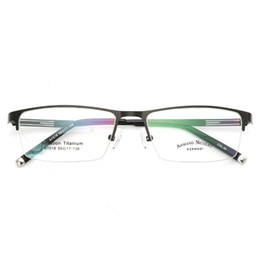 3c46cc4c67 Gafas de montura para gafas Hombres Nerd Titanium Alloy Computer Optical  Tag Marca Eye Glasses para hombre Transparent Clear lens
