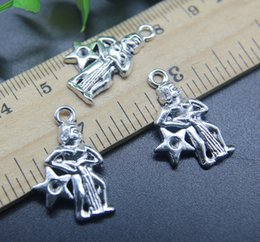 Discount aquarius jewelry 100pcs Aquarius Constellation Alloy Charms Pendant Retro Jewelry Making DIY Keychain Ancient Silver Pendant For Bracelet