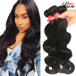 natural wave weave 2019 - Big Promotion 8A Peruvian Virgin Hair Body Wave 3 Bundles Unprocessed Peruvian Body Wave Human Hair Extension Natural Co