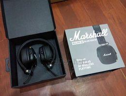Discount wireless headphones mic for phone - 2018 Newest Marshall Major III 3.0 Bluetooth Headphone With Mic Deep Bass Hi-Fi DJ Headset Wireless Major 3 Professional