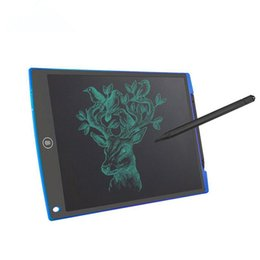 Tablet 12 NZ - Wholesale Portable 12 inch Blue LCD Writing Tablet,Screen Lock Electronic Writing Board,Drawing Board,Notepad with stylus for Kids,Adults