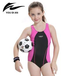 Child Sports Swimwear Canada - YOUDIAN Children's Swimsuit Girls Sports Swimwear 2017 Children Swimwear Kids Girls For Children Bikini Baby Bathing Suit