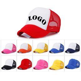 14 colors Trucker Cap Adult Mesh ball Caps Blank Trucker Hats Snapback Hats  Accept Custom Baseball cap for children Sun hat T1C331 2ba2dbddcea8