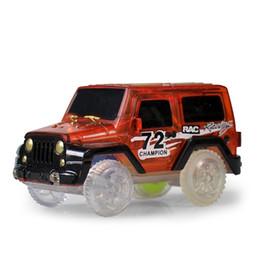 Gift blocks online shopping - Track Car Toys Children Electric Luminous Luminescence Building Blocks Sets DIY Assembling Plastic Gift Hot Sale gm V