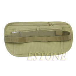 Wholesale THINKTHENDO Travel Pouch Hidden Wallet Passport Money Waist Belt Bag Slim Secret Security