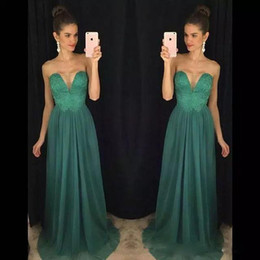 cheap china made evening dresses UK - Fashion Strapless Lace Beaded Long Prom Dresses Cheap China Chiffon Evening Gowns Party Dresses 2020 Bridesmaid Dresses