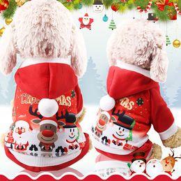 Dresses Apparel Australia - Christmas Pet Dress 6 Size Elk Santa Puppy Suit Classic Euramerican Pet Dog Christmas Clothes Pets Apparel Wholesale DH0319