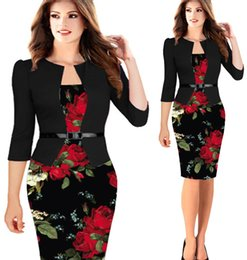 hot piece night dress Canada - Hot sale European and American women print fake two-piece hip pencil skirt dress fashion sexy M--2XL