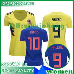 4eee3c60b Colombia JAMES 2018 world cup women CUADRAD AGUILAR GUARIN Jersey Colombia  Home yellow away blue girl Soccer Jerseys female Football Shirt