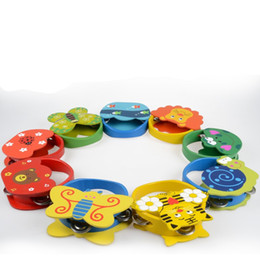Drums percussion instruments online shopping - Cartoon Wooden Funny Noisemaker Toys Sense Of Hearing Carl Orff Percussion Instruments Animal Tambourine Bell Intelligence Toys cw W
