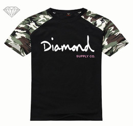 Discount diamond clothes - New Summer Cotton Mens T Shirts Fashion Short-sleeve Printed Diamond Supply Co Male Tops Tees Skate Brand Hip Hop Sport