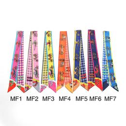 Supply 2017 Top Selling Monkey Design Women Small Silk Scarf Striped Headwear Luxury Brand Handle Bag Ribbon Long Scarves Apparel Accessories