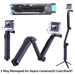Wholesale Monopod Collapsible Way Monopod Mount Camera Grip Extension Arm Tripod Stand for Gopro Hero SJ4000