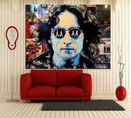 Graffiti Art Canvas Prints Australia - Handpainted & HD Print Alec Monopoly Graffiti Pop urban street Art Oil Painting John Lennon on Canvas Wall art culture Multi Sizes g278